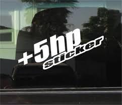5 Hp Horse Power Jdm Car Window Decal Stickers Custom Sticker Shop