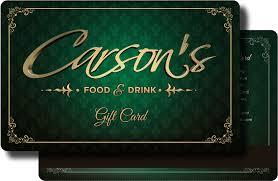 reward gift cards carson s food drink