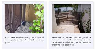 inground pool safety fences inground