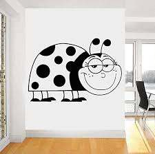 Amazon Com Huanxidp Wall Stickers Smiling Ladybug Wall Sticker Hollow Out Vinyl Waterproof Wall Decals Large Size Wallpaper Baby Nursery Bedroom Home Decor 42x61cm Home Kitchen