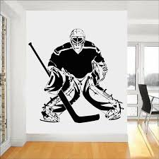 Hockey Wall Sticker Quotes Bedroom Wall Decoration Field Ice Hockey Sport Home Decor For Teenager Room Vinyl Decal Wish