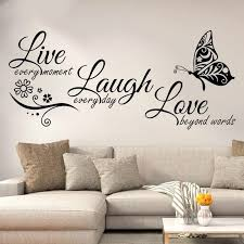 Live Laugh Love Butterfly Flower Wall Art Sticker Modern Wall Decals Quotes Vinyls Stickers Wall Stickers Home Decor Living Room Wall Stickers Aliexpress