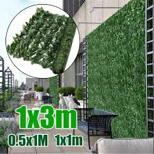 3 Size 1x0 5 1 3m 1pcs Artificial Hedge Leaves Faux Ivy Leaf Privacy Fence Screen Garden Decor Backyards Wedding Decorations Wish
