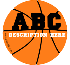Basketball Vinyl Decal Custom Design Buy