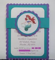 Little Mermaid Birthday Invitations Via Etsy Invitaciones