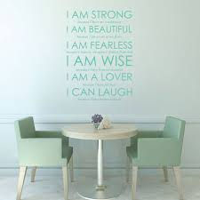 Strength Wall Decal Beautiful Fearless Wise Lover Laugh For Vinyl Wall Deco Customvinyldecor Com
