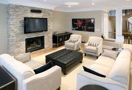 gas fireplace with tv above found on