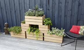 D I Y Stackable Wooden Planters Bunnings Warehouse