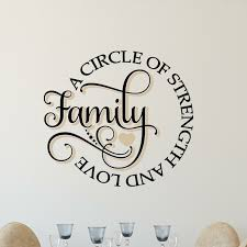 Enchantingly Elegant Family A Circle Of Strength And Love Wall Decal Reviews Wayfair