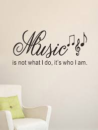 50 Off Music Symbol Word Printed Wall Decal Rosegal