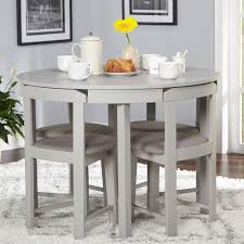 5 Piece Tobey Compact Round Dining Set Table Chairs Kitchen Dinette Dining Room Space Saving Dining Table Kitchen Table Settings Dining Room Small