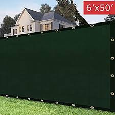 Kanagawa 6 X50 Privacy Fence Screen Green Heavy Duty Mesh Cloth Fencing Shade Tarp Commercial Grade 150 Gsm Buy Online At Best Price In Uae Amazon Ae