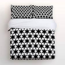 duvet cover sets motif modern geometric