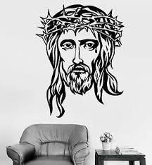 Vinyl Wall Decal God Jesus Head Religion Christianity Christian Stickers 1113ig Ebay
