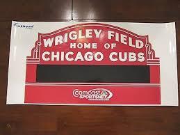 Chicago Cubs Wrigley Field Dry Erase Marquee Fathead Wall Sticker Sga 489980739