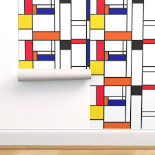 piet mondrian inspired line pattern on