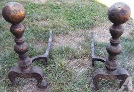 vintage brass cast iron fireplace