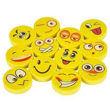 144 Emoji Erasers Assorted Smile Face Emoticon Walmart Com Walmart Com