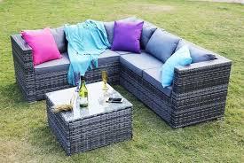 rattan corner sofa set garden