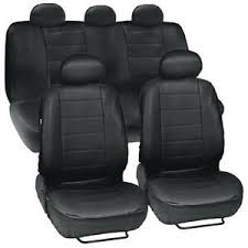 prosyn black leather auto seat covers