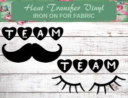 Amazon Com Baby Reveal Iron On Staches Or Lashes Staches Or Lashes Reveal Party Team Mustaches Team Lashes Baby Shower Iron On Baby Reveal Decal Handmade