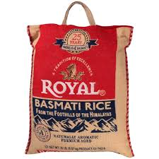 twenty pound bag of basmati rice