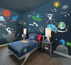 Space Theme Kids Wall Decal Playroom Decal Cool Kids Rooms Kid Room Decor Space Themed Bedroom