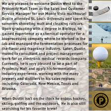 Dustin West Announcement 2017 (1) | Proximity Malt