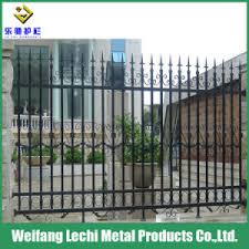 China Powder Coated Wrought Iron Decorative Security Fence Posts Metal Fencing For Garden Pool House China Fence Steel Fence