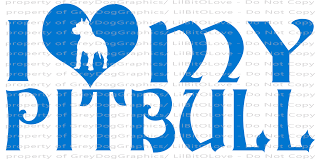 I Love My Pit Bull Vinyl Decal Bully Rescue Lilbitolove