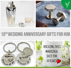 creative 10th wedding anniversary gifts