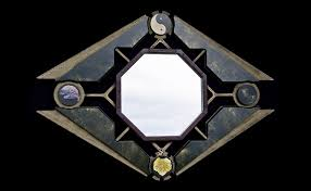 taoist mirror faux painted mdf and