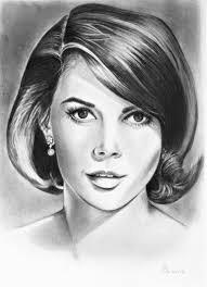 Natalie Wood Drawing by Adriana Holmes | Saatchi Art