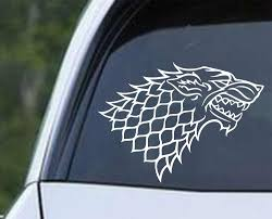 Game Of Thrones House Stark Direwolf Die Cut Vinyl Decal Sticker Decals City