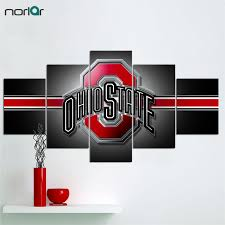 5 Pcs Hd Print Canvas Painting Ohio State Buckeyes Modern Home Wall Art Picture With Free Shipping Worldwide Weposters Com