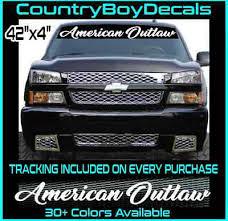 Outlaw Script Windshield Decal Sticker Turbo Truck Lift Mud Car Diesel Low Pro