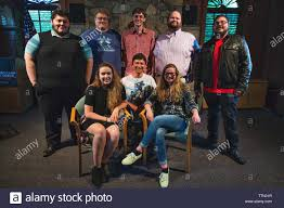 """UNITED STATES - June 20, 2016: Cast and Crew during a dress rehearsal for  """"Love, He Called It,"""" by two local playwrights Christian Jost and Sean  Phill Stock Photo: 256160291 - Alamy"""