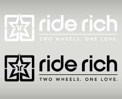 Ride Rich 2w1l Vinyl Large Custom Motorcycle Decals Ride Rich