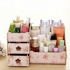 multi grid wood makeup storage box