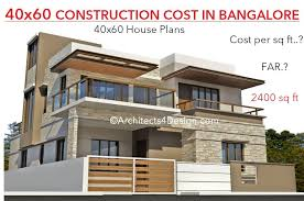 40x60 house construction cost
