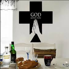 Religious Christian Cross Wall Decal Sticker Christian Cross Jesus Wall Decal God Loves You Jesus Home Wall Decal Poster Ny 85 Wall Decals Stickers Decal Stickerposters Posters Aliexpress