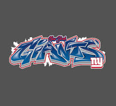 New York Giants Graffiti Vinyl Vehicle Car Laptop Wall Yeti Sticker Decal 5 00 Picclick
