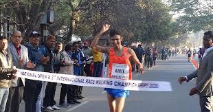 Athletics: Amit sets national record at Race Walking C'ships ...
