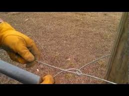 Tying Off High Tensile Wire Wire Fence Tensile Electric Fence