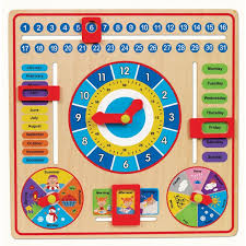 All About Today Board Wooden Calendar Educational Toys Planet