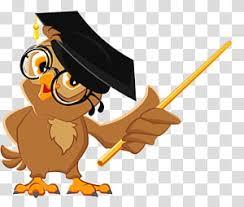 Brown owl illustration, Owl Education Teacher Illustration, Owl ...