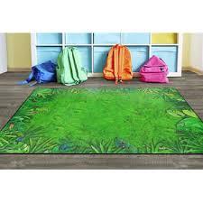 Flagship Carpet Classroom Decor Educational Rainforest Frogs Rug 6 X 8 4