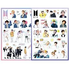 Amazon Com Bts Sticker Kpop Decal Pack For Laptop Car Decoration Cellphone Stickers Cartoon Sticker Jungkook V Jimin Suga Rm J Hope Fans Gift Bts 1 2 Computers Accessories