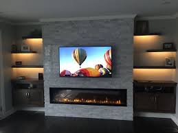 built in electric fireplace built in