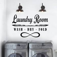 Laundry Room Wash Dry Fold Wall Art Decal Sticker Thriftysigns